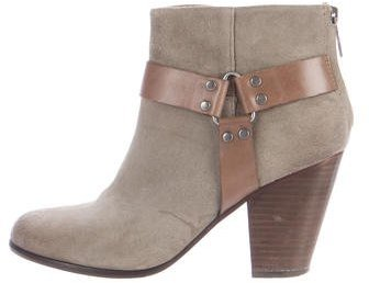Ash Ash Suede Harness Ankle Boots