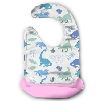 On HiH Waterproof Baby Feeding Roll-up Bibs Dinosaur-e5560f61 Silicone Bibs For Babies&Toddlers