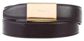 Salvatore Ferragamo Logo Leather Belt