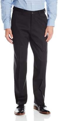 Haggar Men's Premium No Iron Classic Fit Expandable Waist Plain Front Pant