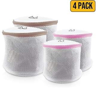 Laundry by Shelli Segal Spedalon Bra Bag for Washing Machine - Pack of 4 (2 Large + 2 Regular) | Mesh Laundry Bags for Delicates