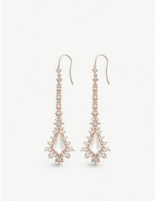 Kendra Scott Reimer 14ct gold-plated and ivory mother-of-pearl earrings