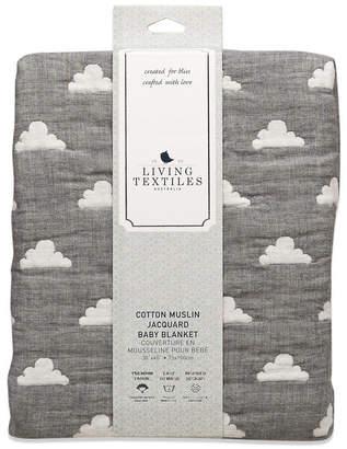 Living Textiles Lolli Living Cotton Muslin Jacquard Blanket