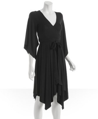 Tart black jersey 'Colette' wrap dress