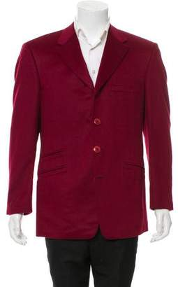 Gianni Versace Angora Three-Button Blazer