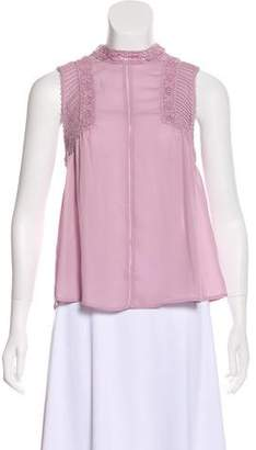 Rebecca Minkoff Lace-Accented Sleeveless Top w/ Tags