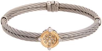 Alor Classique 18K & Stainless Steel 0.33 Ct. Tw. Champagne Diamond Bracelet