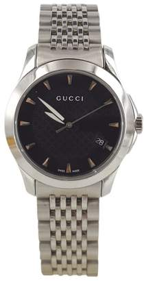 Gucci G-Timeless Stainless Steel Black Dial 27mm Womens Watch