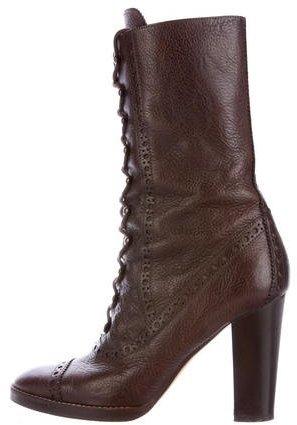 MICHAEL Michael KorsMichael Kors Leather Lace-Up Boots