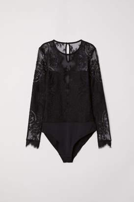H&M Lace Bodysuit - Black
