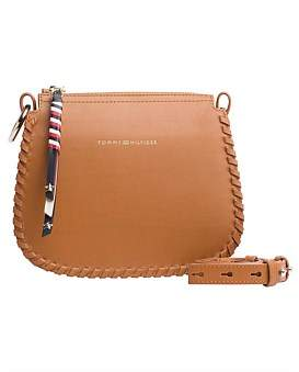 Tommy Hilfiger Stitch Leather Crossover Bag