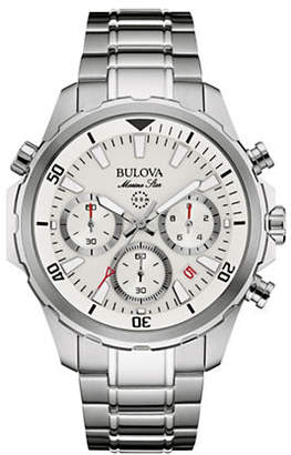 Bulova Chronograph Marine Star Collection Stainless Steel Watch