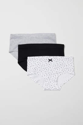 H&M 3-pack Hipster Briefs - Black