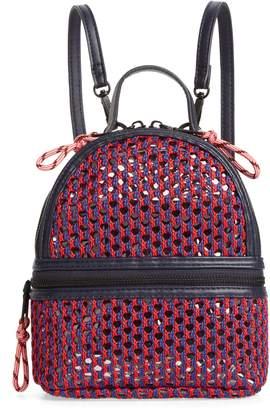 83089264a5 Steve Madden Mini Woven Mesh   PVC Backpack