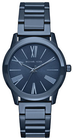MICHAEL Michael Kors Michael Kors Hartman Blue Stainless Steel Watch