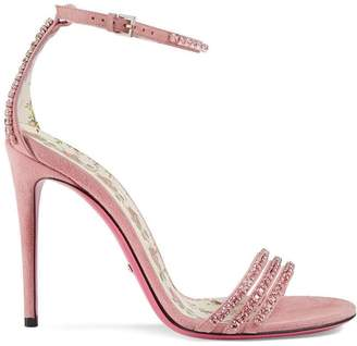 Gucci crystal embellished sandals