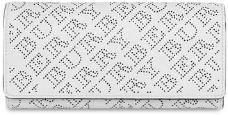 Burberry perforated continental wallet