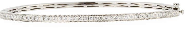 Memoire 18K White Gold Milgrain Diamond Bangle