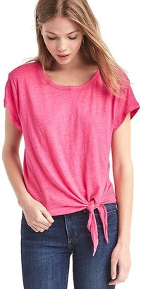 Linen layered front-tie tee $34.95 thestylecure.com