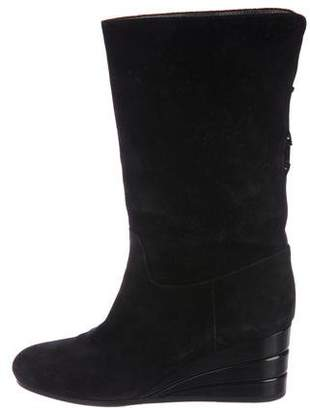 Salvatore Ferragamo Wedge Mid-Calf Boots