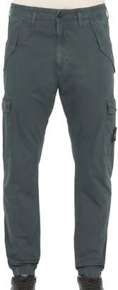 Stone Island Garment-Dyed Cargo Pants - Blue