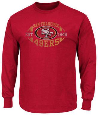 Profile Men's San Francisco 49ers Print Logo Long Sleeve Big & Tall T-Shirt