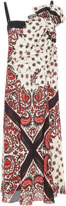 RED Valentino Gathered Bandana Print Dress
