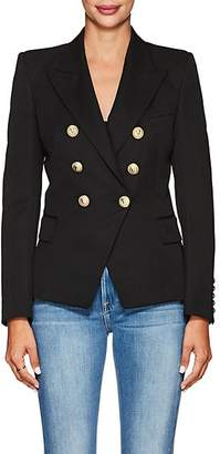 Balmain Women's Virgin Wool Double-Breasted Blazer - Black