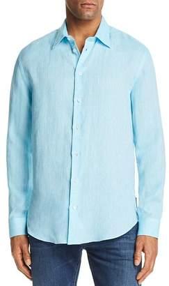 Emporio Armani Tonal Stitch Regular Fit Button-Down Shirt