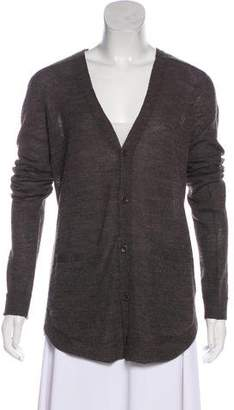 Helmut Lang Alpaca-Wool Blend Long Cardigan