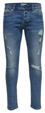 ONLY & SONS Destroyed Skinny Jeans