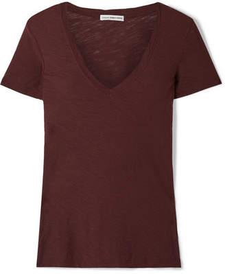 James Perse Slub Supima Cotton-jersey T-shirt - Burgundy