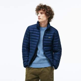 Lacoste Men's Short Contrast Lining Quilted Jacket