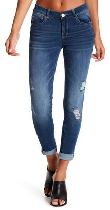 Jolt Decon Roll Skinny Jeans (Juniors) $58 thestylecure.com