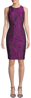 Carmen Marc Valvo Women's Floral Brocade Sheath Dress