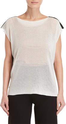 Pierantonio Gaspari Mesh Knit Sleeveless Sweater
