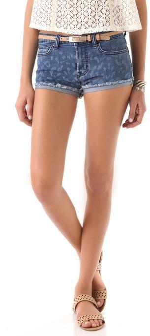 Rebecca taylor Leopard Cutoff Shorts
