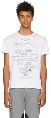 Alexander McQueen White Calligraphy Print T-Shirt