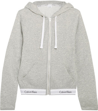 Calvin Klein Underwear - Modern Cotton-blend Jersey Hooded Top - Gray $70 thestylecure.com