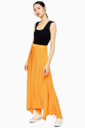 Topshop Womens **Bias Jersey Skirt By Boutique - Orange
