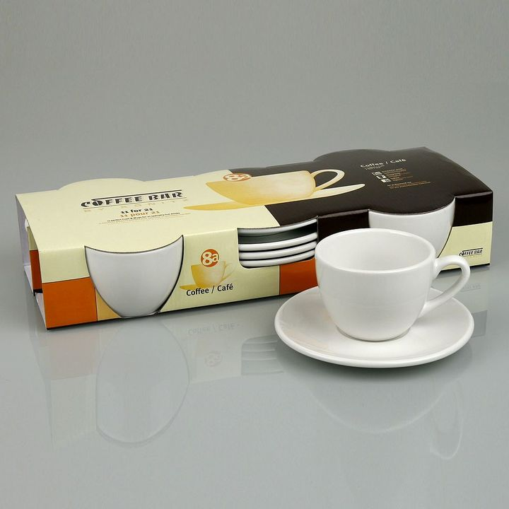 Konitz Coffee Bar By 8-pc. Coffee Cup & Saucer Set