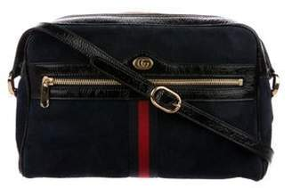 Gucci Ophidia Small Suede Crossbody Bag Navy Ophidia Small Suede Crossbody Bag