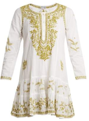 Juliet Dunn Embroidered Cotton Dress - Womens - White Multi