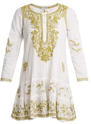 Juliet Dunn Embroidered Cotton Dress - Womens - White Multi
