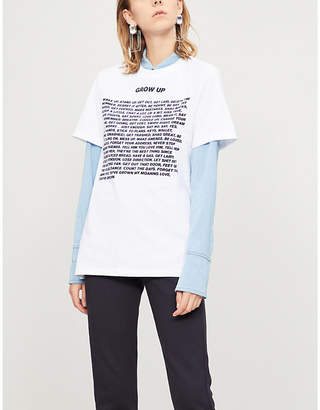 House of Holland Grow Up cotton-jersey T-shirt