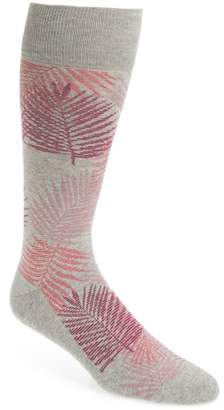 Nordstrom Evening Palm Frond Socks