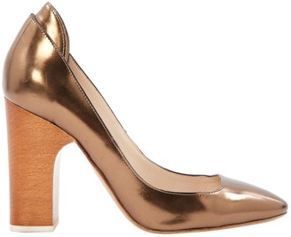 Chloé Gold Leather Heels
