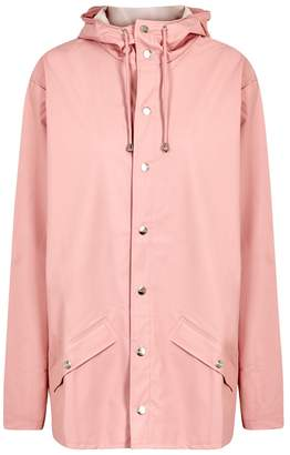 Rains Light Pink Rubberised Raincoat
