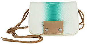 As Is Kelsi Dagger Leather Spencer Embossed Python Crossbody $29 thestylecure.com
