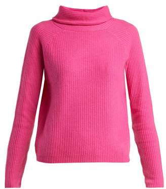 Allude Roll Neck Cashmere Sweater - Womens - Pink